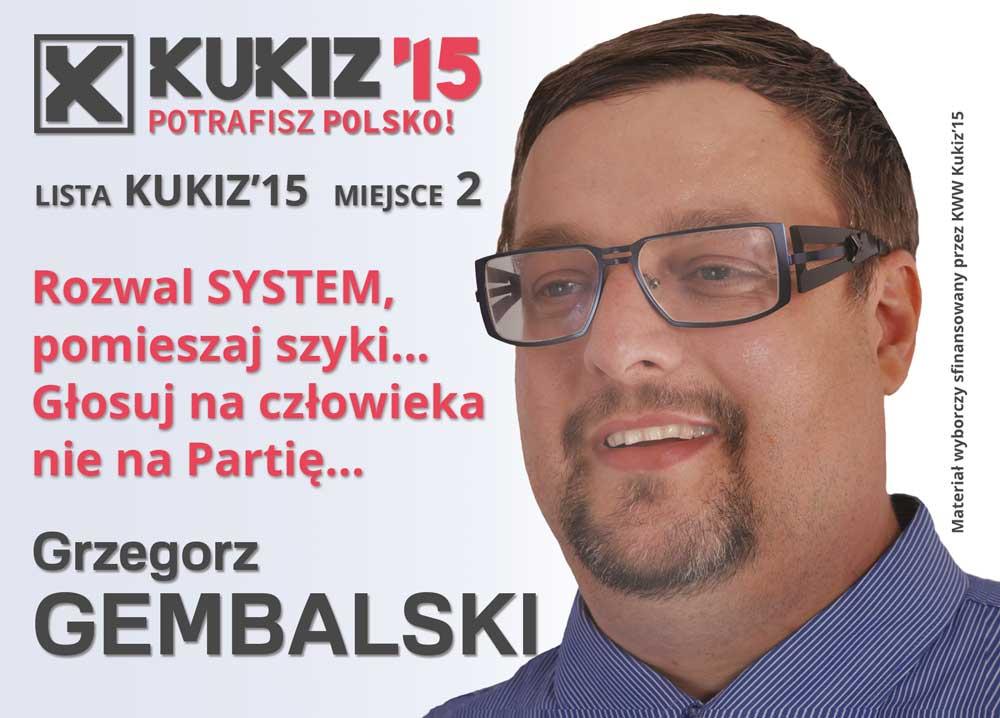 Grzegorz Gembalski Wybory 2015